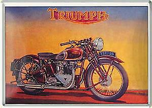 Triumph Speed Twin metal postcard / mini-sign (na)