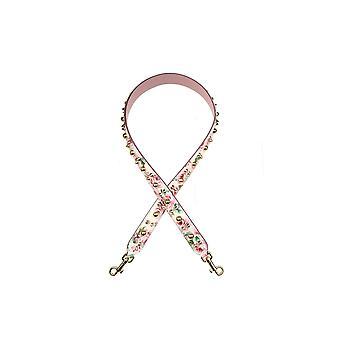 Dolce E Gabbana Pink Leather Shoulder Strap