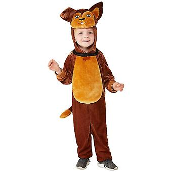 Toddlers Cute Brown Dog Fancy Dress Costume