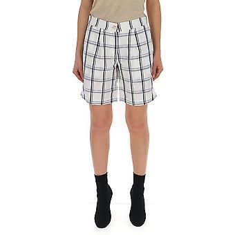 Semi-Couture-weiß/blau-Viskose-Shorts