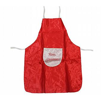 Dressing Up Childrens Satin Santas Helper Apron Merry Christmas Pocket Pack of 2 (5758)