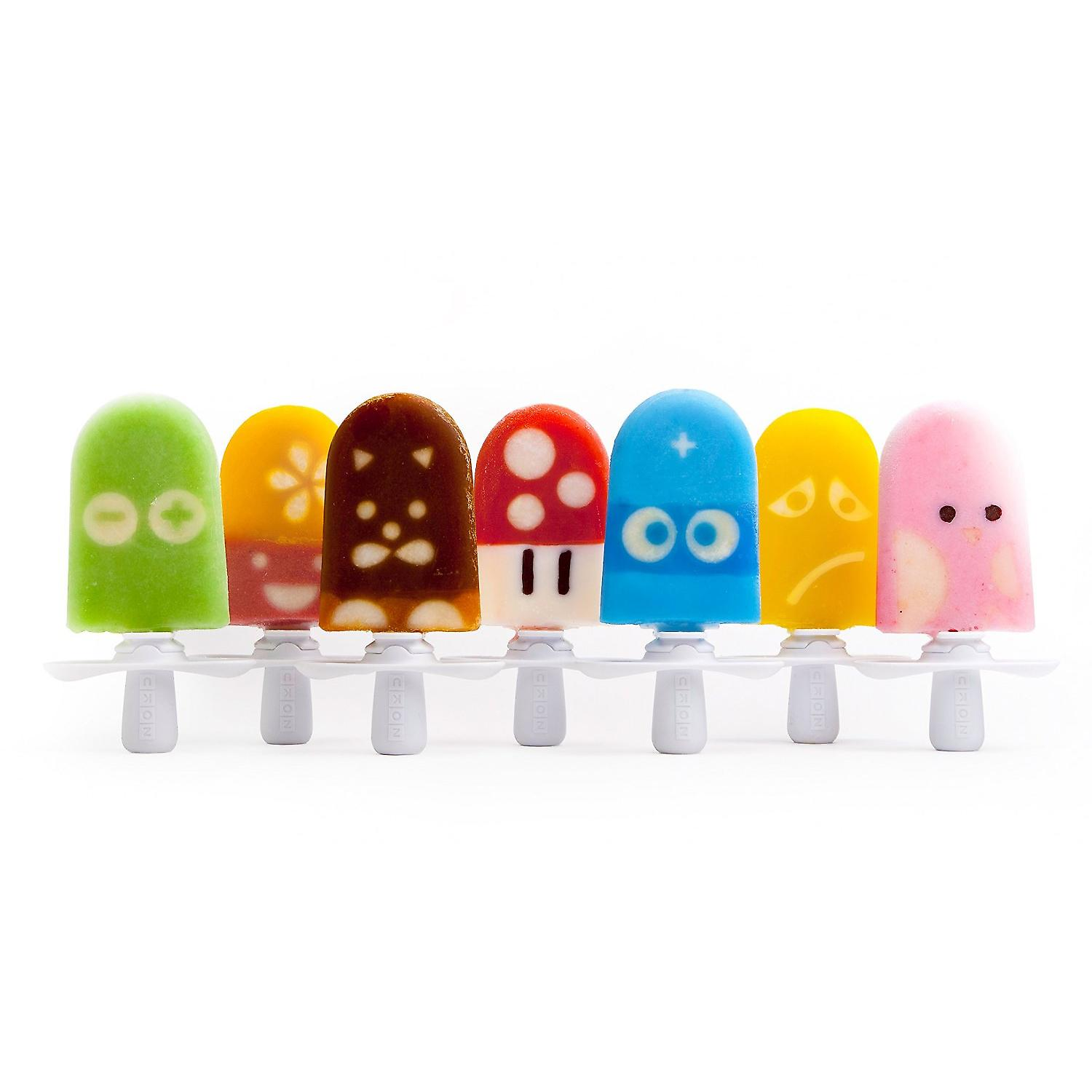 ZOKU Quick Pop Character Kit - stencils and faces kit for ice pops