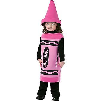 Rosa Crayola småbarn dräkt 3-4 år