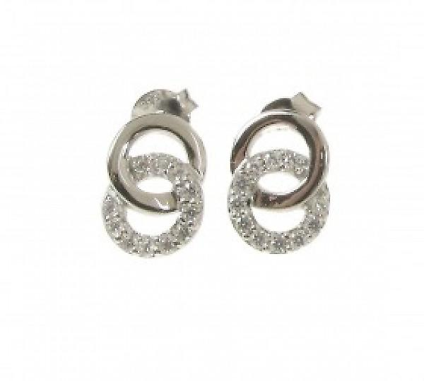 Cavendish French Lovingly Entwined Silver and CZ Earrings