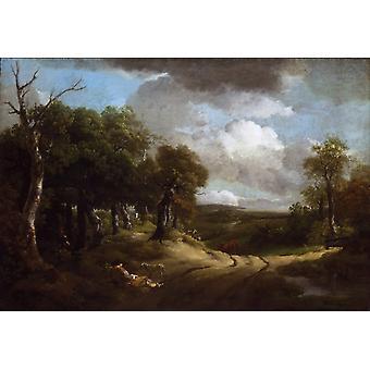Rest on the Way,Thomas Gainsborough,60x40cm