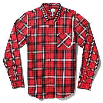 Lrg RC Long Sleeve Poplin Plaid Woven Shirt Red