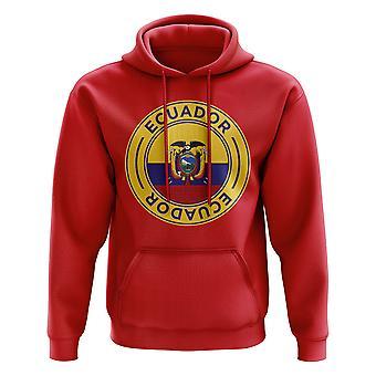 Ecuador Football Badge Hoodie (Red)