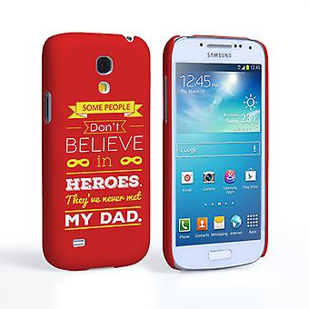 Caseflex Dad Heroes Quote Samsung Galaxy S4 Mini Case - Red