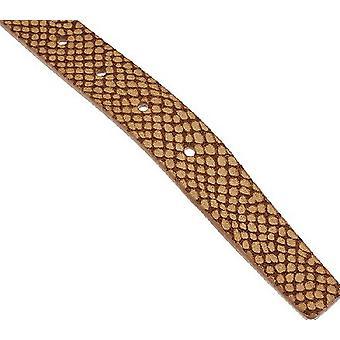 Isaac Mizrahi Live! Reversible Leather Strap Belt M L Lt Brown Bone A264211