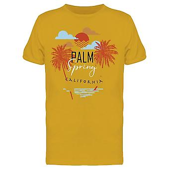 Palm Spring In California Beach Tee Men's -Image by Shutterstock