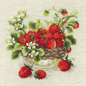 Garden Strawberry Counted Cross Stitch Kit-11.75