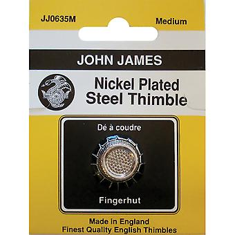 Nickel Plated Steel Crimp Top Thimble Medium Jj0635 M