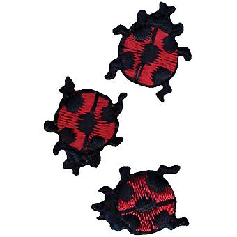 Wrights Iron On Appliques Ladybugs 5 8