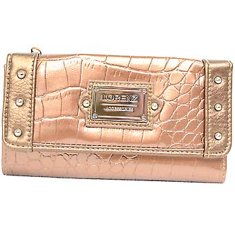 Ladies / Girls Crocodile Skin Design Small Matinee Purse - Black