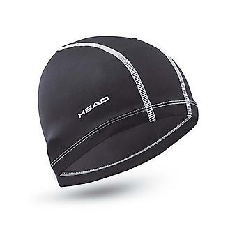 HEAD Nylon/Spandex Adult Swimming Cap - Black