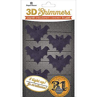 Paper House Led Shimmers Embellishment-Bat Garland EMB0040E