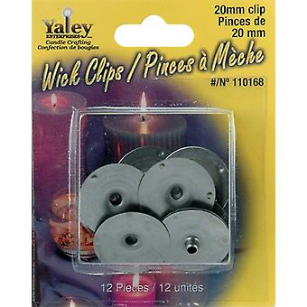 Candle Wick Clips 12/Pkg-20mm 110168