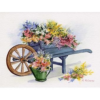 Flower Cart Poster Print by Maureen Mccarthy (12 x 9)