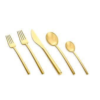 Mepra Due Ice Oro 5 pcs flatware set