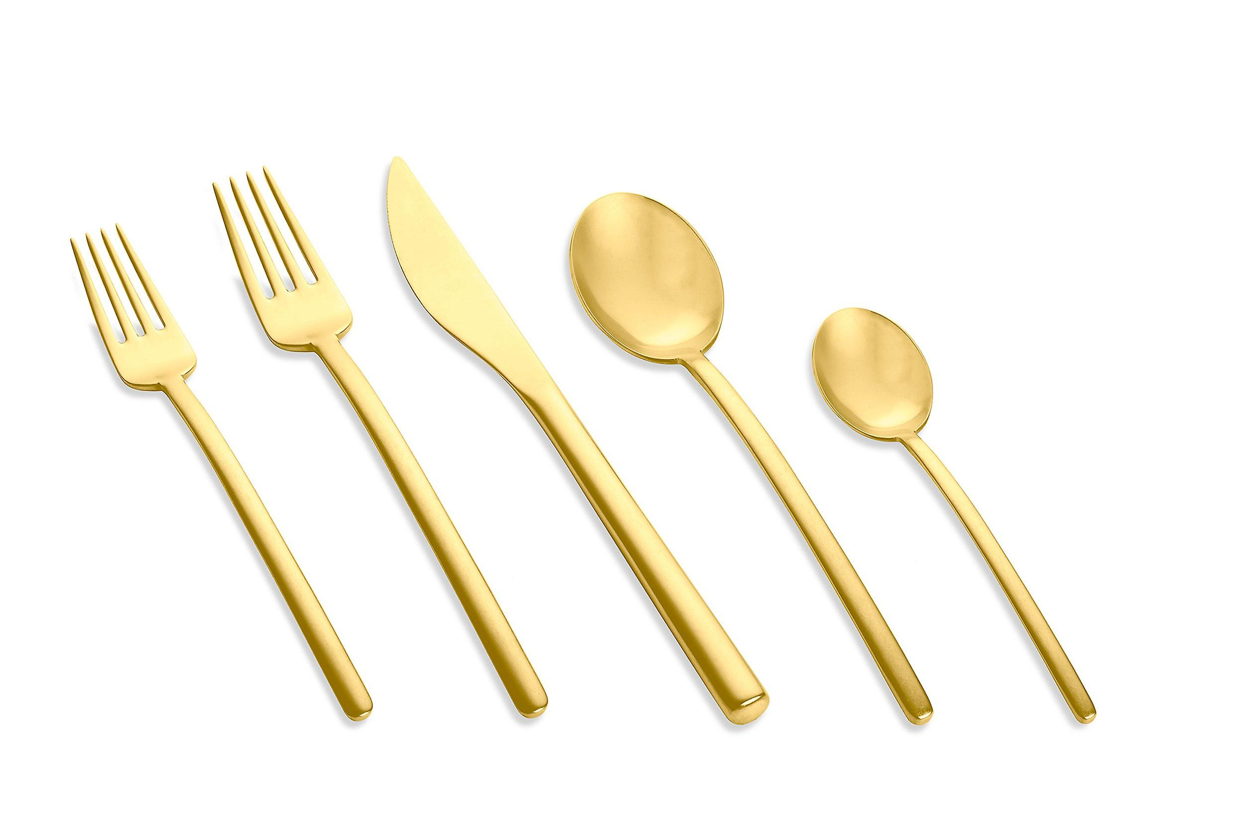 Mepra Due Ice Oro 5 pcs flatware set