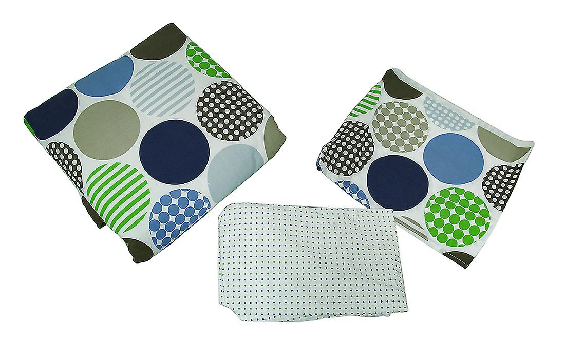 Polka Dots 3 pièce Crib Sheet jupe Consolateur ensemble de literie