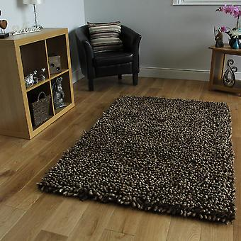 Brown Wool Shaggy Rug Moscow