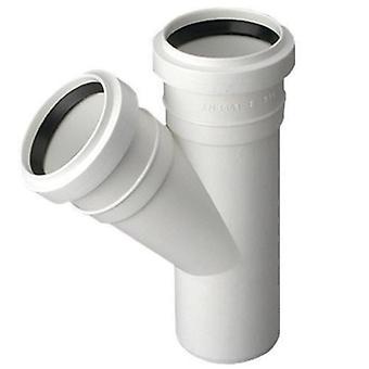 Avloppsvatten Tee Connector gemensamma 50 / 50mm röret Diameter 67deg monteringsvinkeln