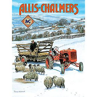 Allis Chalmers snow small steel sign 200mm x 150mm (og)