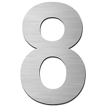 Serafini house number 8 stainless steel V4A for punching height 15 cm