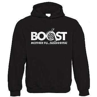 Vectorbomb, Boost Mother Fusssshhhta, Mens Funny Car Hoodie