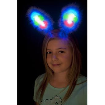 Bunny ears Blau Marabu spring with multicolor LED