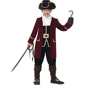 Noble pirate captain child costume pirate kids