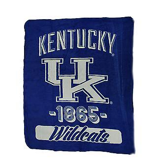 NCAA UK Kentucky Wildcats mikro Raschel plysj kaste teppe 46 x 60 tommers
