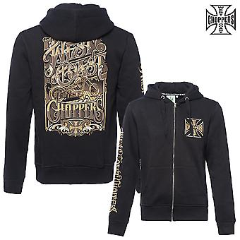 West Coast choppers Zip Hoody lock up