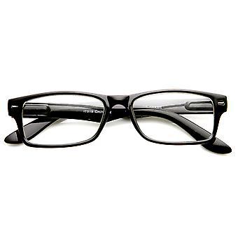 Casual Fashion Horned Rim Rectangular Frame Clear Lens Eye Glasses