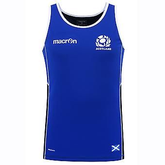 2016-2017 Scotland Macron Rugby Dry Training Singlet (Blue)