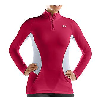 UNDER ARMOUR coldgear kvinnors fusion 1/4 zip [hollywood/stål]