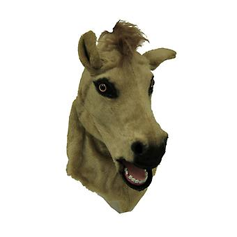 Brown Horse Moving Mouth Faux Fur Adult Costume Mask