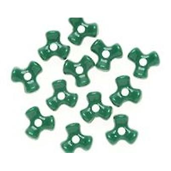 SALE - Opaque Green Tri Plastic Beads for Kids Crafts - 480pk