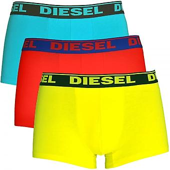 DIESEL Fresh And Bright UMBX-Shawn 3-Pack Boxer Red / Blue / Yellow, Small