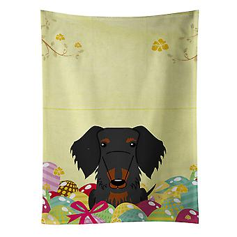 Easter Eggs Wire Haired Dachshund Black Tan Kitchen Towel
