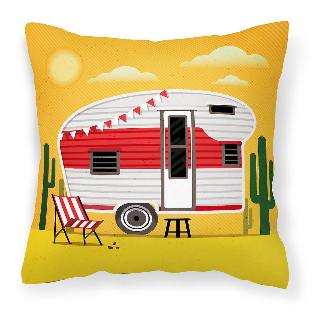 Retro Aventure Camper Désert Décoratif Grande Plus Tissu Oreiller 4AjR35Lq