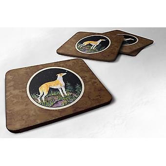 Carolines Treasures  SS8492FC Starry Night Whippet Foam Coasters Set of 4