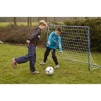 Penalty Zone Blue Steel Children Football Goal With Net Soccer Goals Home Garden