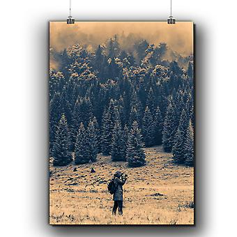 Matte or Glossy Poster with Mountain Art Photo Nature | Wellcoda | *q265