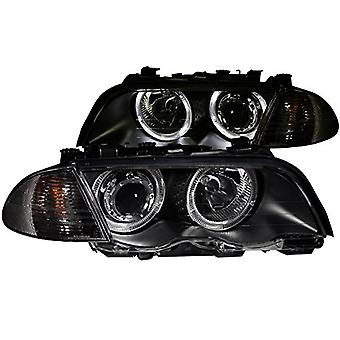 Anzo USA 121261 BMW 330xi Projector Halo Black Clear Headlight Assembly - (Sold in Pairs)