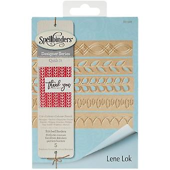 Spellbinders Shapeabilities Dies By Lene Lok-Quilt It-Stitched Borders S5312