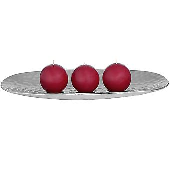 Hill Interiors Dimple Effect Silver Oval Display Dish