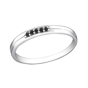 Plain - 925 Sterling Silver Cubic Zirconia Rings - W30521x