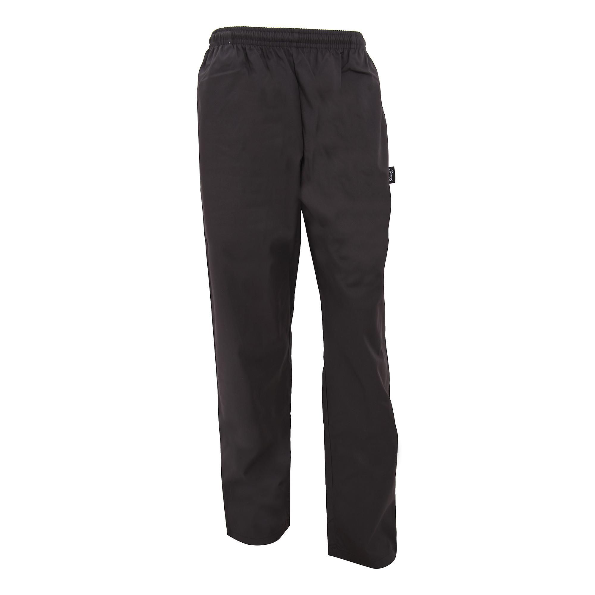 Dennys Unisex Black Elasticated Trouser / Chefswear
